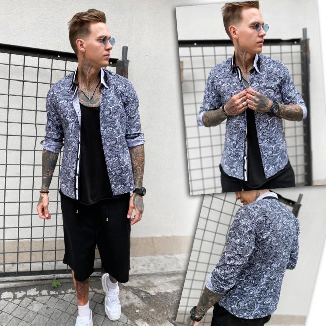 0354 YXC рубашка мужская с принтом (S-XL, 4 ед.) YXC: артикул 1109369