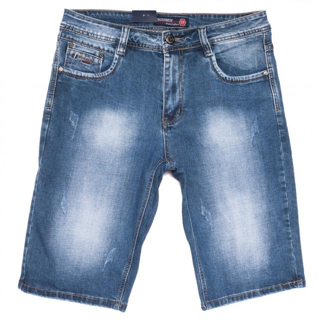 3909 Crossnese шорты джинсовые мужские синие стрейчевые (30-38, 8 ед.) Crossnese: артикул 1109116
