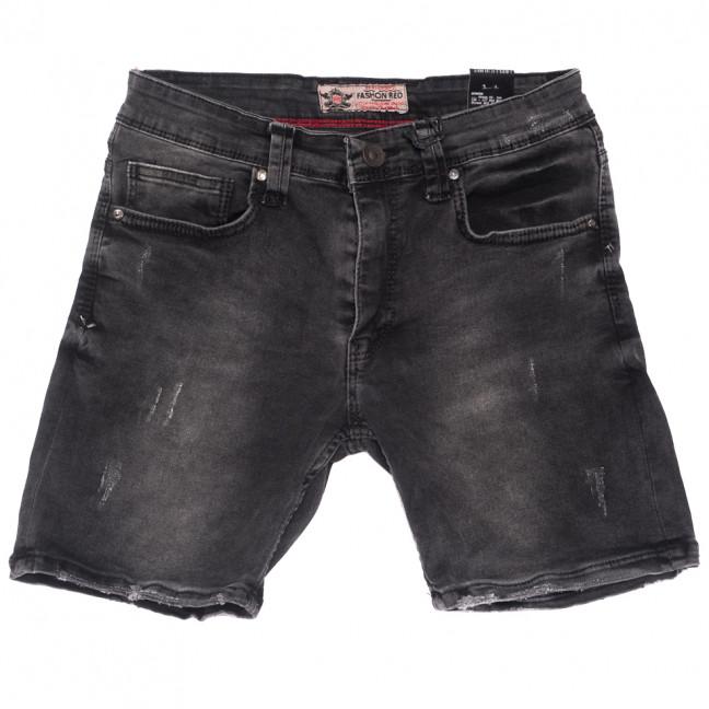 6566 Fashion Red шорты джинсовые мужские с царапками серые стрейчевые (29-36, 8 ед.) Fashion Red: артикул 1109457