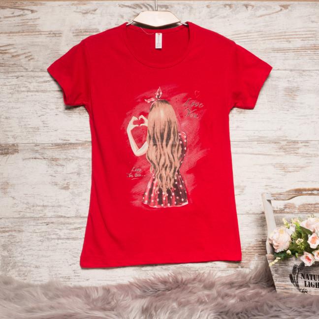 Красная женская футболка с принтом Akkaya 3206-4 Akkaya: артикул 1110811