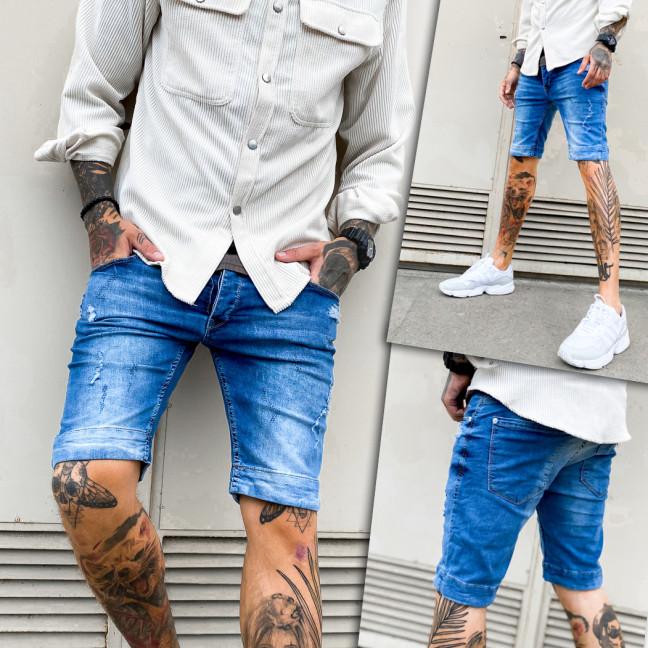 0256 Mario Cavallini шорты джинсовые мужские рваные стрейчевые (29-36, 8 ед.) Mario Cavallini: артикул 1109266