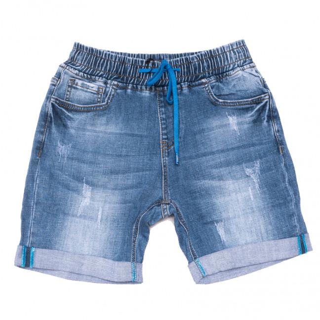 8388 Vanver шорты джинсовые женские батальные с царапками синие стрейчевые (30-36, 6 ед.) Vanver: артикул 1108628