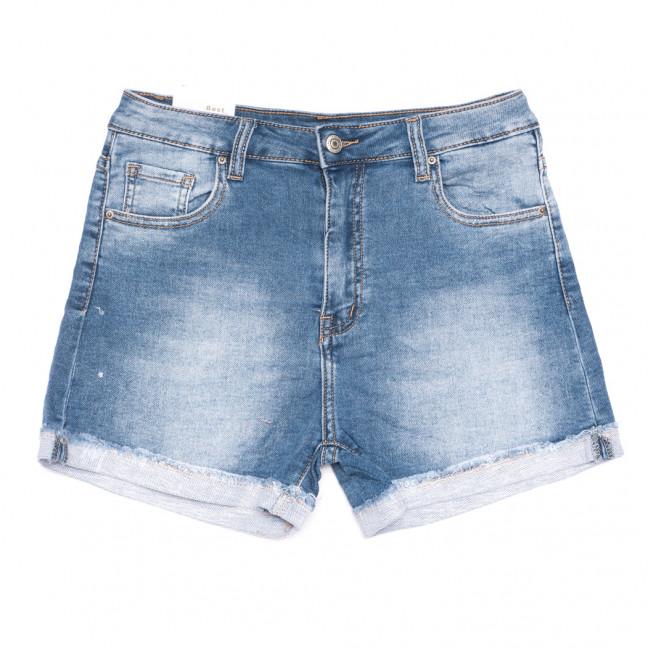 9167 Saint Wish шорты джинсовые женские полубатальные синие стрейчевые (28-33, 6 ед.) Saint Wish: артикул 1108218