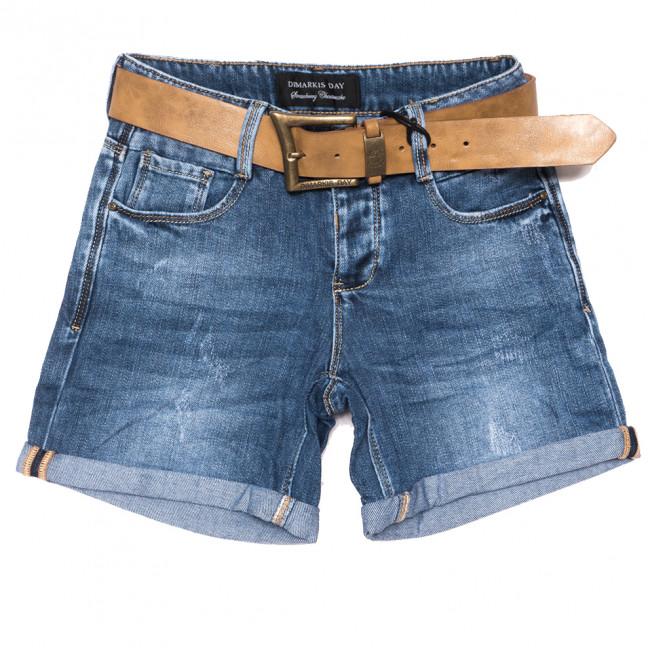 6155 Dmarks шорты джинсовые женские с царапками синие коттоновые (25-30, 6 ед.) Dmarks: артикул 1108602