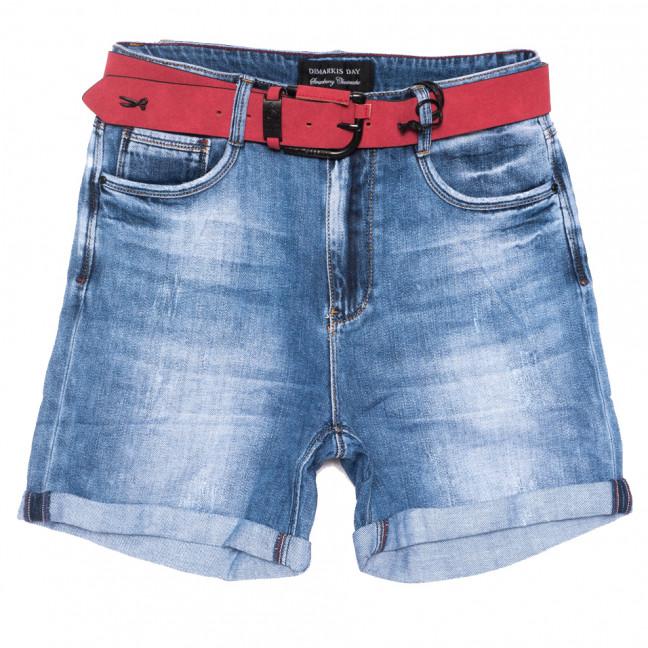 9418 Dmarks шорты джинсовые женские батальные с царапками синие коттоновые (30-36, 6 ед.) Dmarks: артикул 1108596