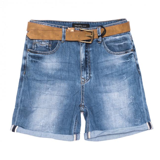 9419 Dmarks шорты джинсовые женские батальные с царапками синие коттоновые (30-36, 6 ед.) Dmarks: артикул 1108598