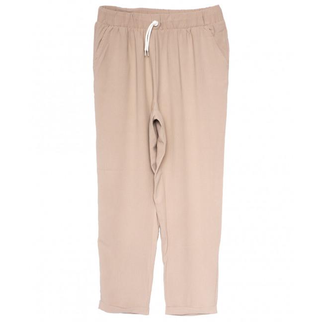 0222 бежевые Exclusive брюки женские спортивные батальные летние стрейчевые (50-54, 3 ед.) Exclusive: артикул 1109493