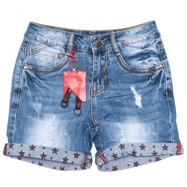 0157 Lan Bai шорты джинсовые женские с рванкой синие стрейчевые (25-30, 6 ед.) Lan Bai: артикул 1108931
