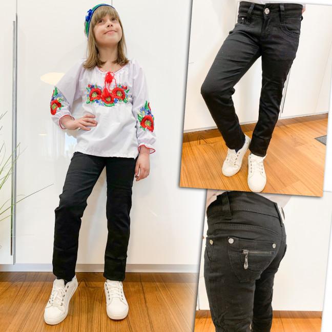 2032 Lafeidina брюки на девочку черные весенние стрейчевые (21-27, 7 ед.) Lafeidina: артикул 1109283