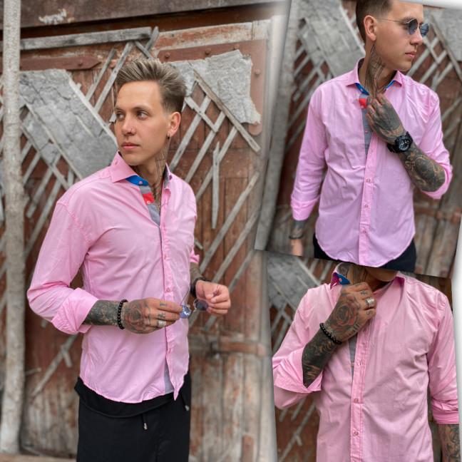 Розовая мужская рубашка Afish 1465-1 Afish: артикул 1110655