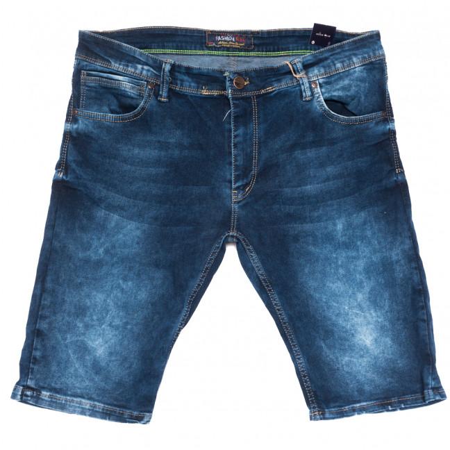 6517 Fashion Red шорты джинсовые мужские полубатальные синие стрейчевые (32-40, 8 ед.) Fashion Red: артикул 1109461