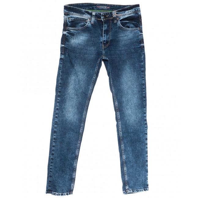 6808 Redcode джинсы мужские с царапкой синие весенние стрейчевые (29-36, 8 ед.) Redcode: артикул 1108710