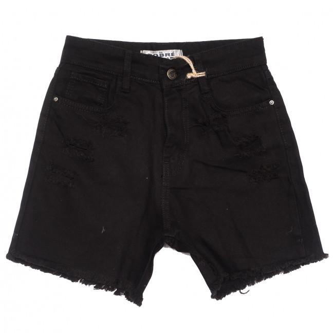 0211 Dobre шорты джинсовые женские черные коттоновые (34-42,евро, 5 ед.) Dobre: артикул 1108951
