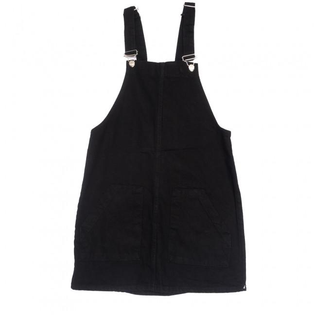 2270 сарафан джинсовый черный весенний коттоновый (25-30, 6 ед.) Сарафан: артикул 1109209