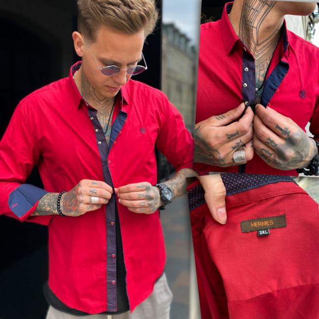 7325-1 рубашка мужская красная (3XL-6XL, 4 ед.) Рубашка: артикул 1109379