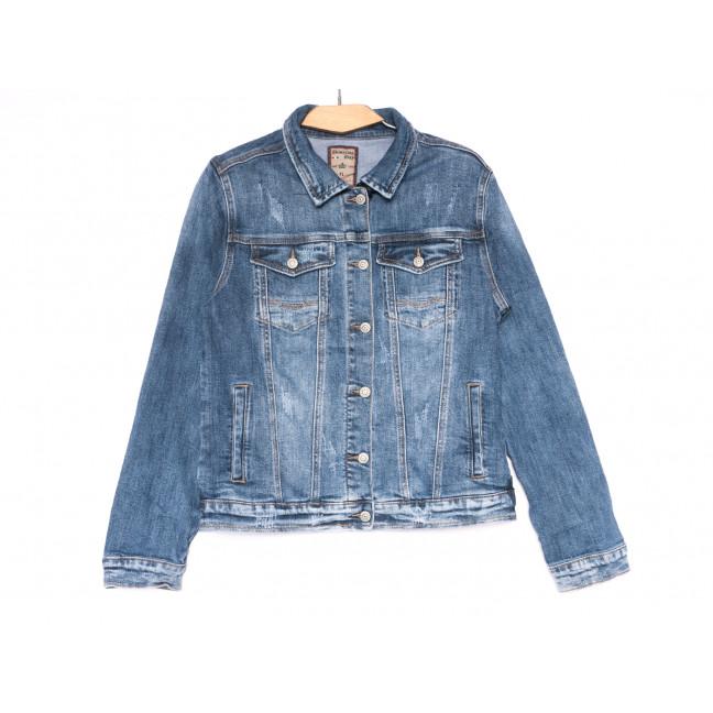 3066 Dimarkis Day куртка джинсовая женская батальная синяя весенняя стрейчевая (XL-6XL, 6 ед.) Dimarkis Day: артикул 1109581