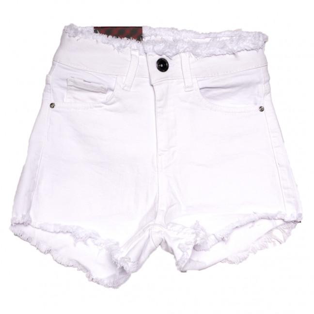 0813 с бахромой Red Moon шорты джинсовые женские белые стрейчевые (25-30, 6 ед.) Red Moon: артикул 1109151