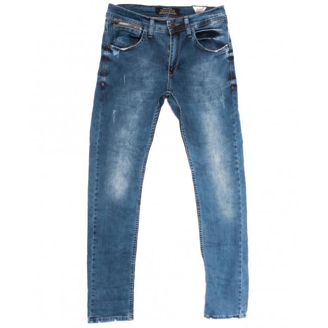 0537 Orjean джинсы мужские с царапками синие весенние стрейчевые (29-36, 8 ед.) Orjean: артикул 1108461