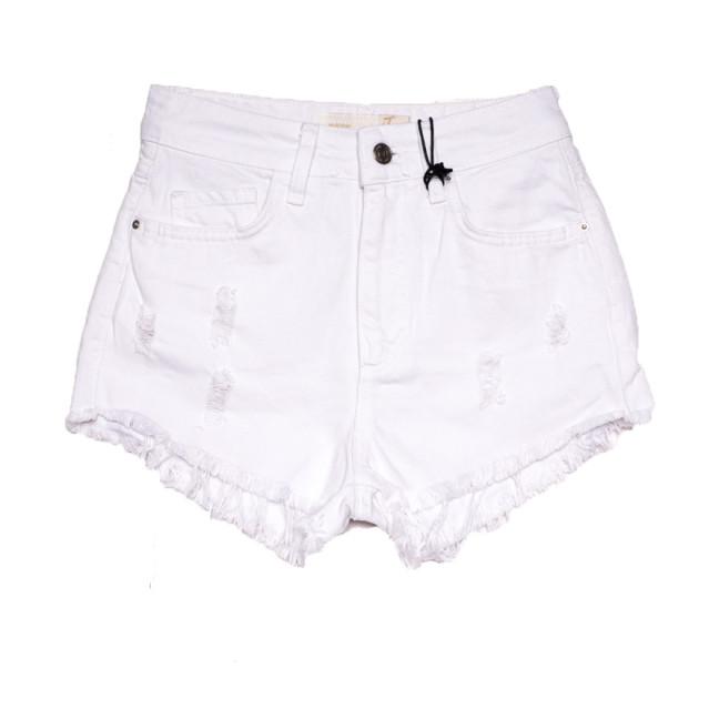 4412 Cracpot шорты джинсовые женские с рванкой белые коттоновые (25-29, 5 ед.) Cracpot: артикул 1108441