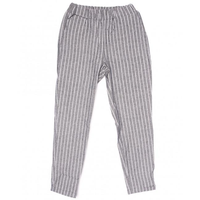 0217 серые Exclusive брюки женские в полоску летние коттоновые (42-48,евро, 4 ед.) Exclusive: артикул 1109512