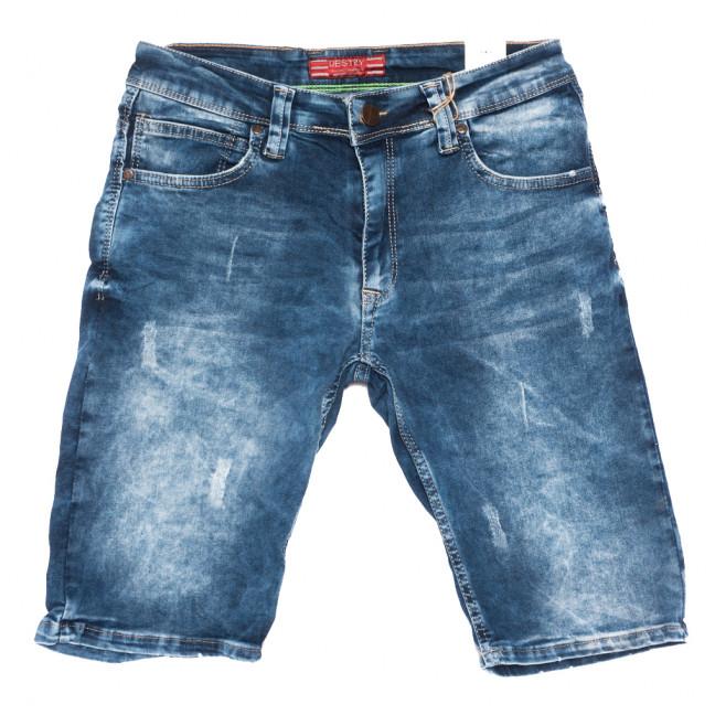 6568 Destry шорты джинсовые мужские с царапками синие стрейчевые (29-36, 8 ед.) Destry: артикул 1109007