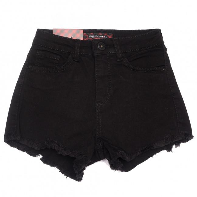 0779 Red Moon шорты джинсовые женские черные стрейчевые (25-30, 6 ед.) Red Moon: артикул 1109156
