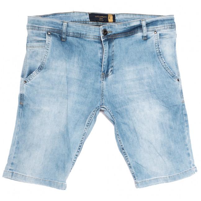 6001-1 шорты джинсовые мужские полубатальные синие стрейчевые (32-42, 8 ед.) Шорты: артикул 1108551