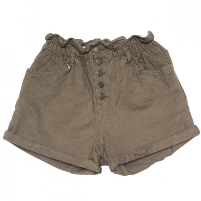 0226 хаки Defile шорты джинсовые женские на резинке коттоновые (34-40,евро, 6 ед.) Defile: артикул 1109475