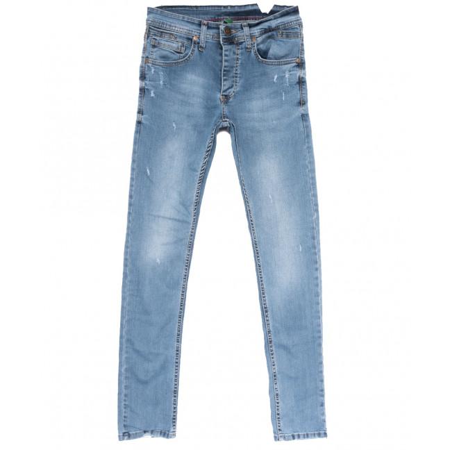 1949 Jack Johnson джинсы мужские зауженные с рванкой синие весенние стрейчевые (29-36, 8 ед.) Jack Johnson: артикул 1108445