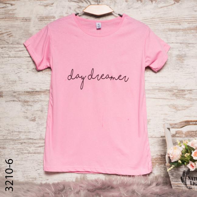 Женская розовая футболка с принтом 3210-6 Carla Mara: артикул 1109130