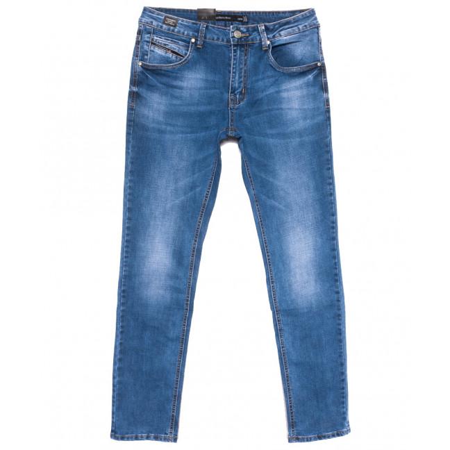 9451 God Bаron джинсы мужские полубатальные синие весенние стрейчевые (32-38, 8 ед.) God Baron: артикул 1109077
