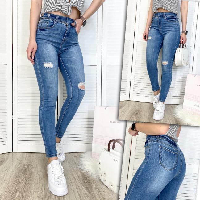 3571 New jeans джинсы женские зауженные синие демисезонные стрейчевые (25-30, 6 ед.) New Jeans: артикул 1103371
