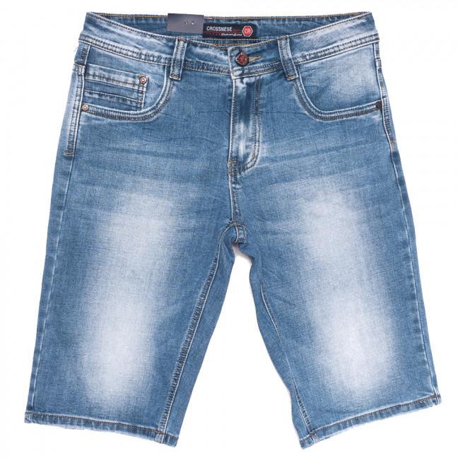 3908 Crossnese шорты джинсовые мужские синие стрейчевые (29-38, 8 ед.) Crossnese: артикул 1109121