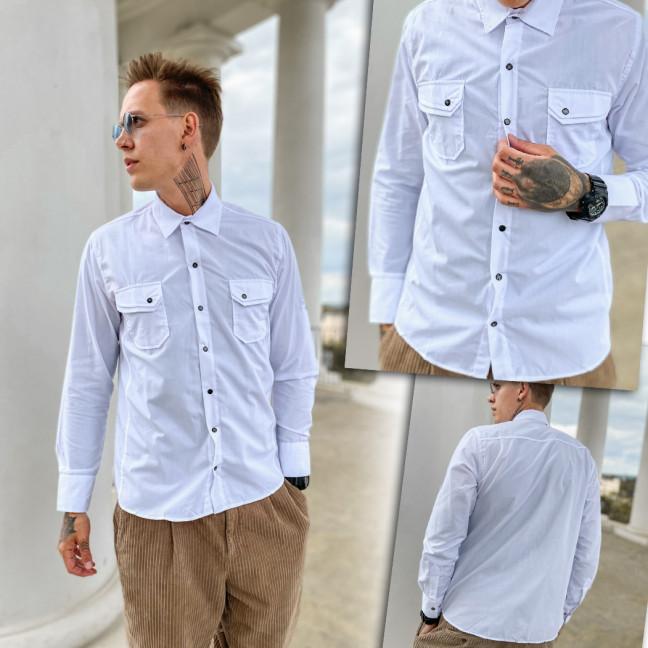 3224-1 YXC рубашка мужская белая (3XL-6XL, 4 ед.) YXC: артикул 1109377