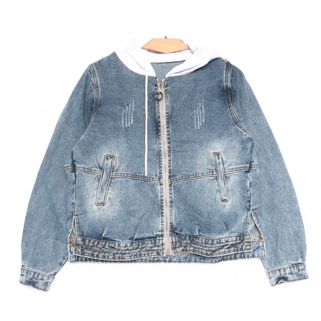 8022 Zijinyan куртка джинсовая женская с царапками синяя весенняя коттоновая (S-2XL, 6 ед.) Zijinyan: артикул 1109367