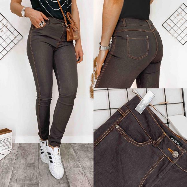 0867-4 Kadeqi брюки женские текстильные коричневые тонкие стрейчевые (25-30, 6 ед.) Kadeqi: артикул 1108388