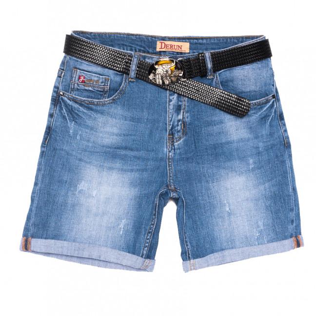 7086 Derun шорты джинсовые женские батальные с царапками синие стрейчевые (31-38, 6 ед.) Derun: артикул 1108608