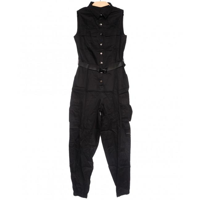 8381 черный Saint Wish комбинезон текстильный летний стрейчевый (S-2XL, 5 ед.) Saint Wish: артикул 1108260