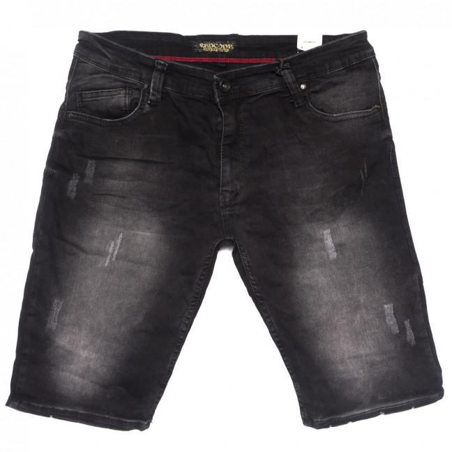 6620 Redcode шорты джинсовые мужские полубатальные с царапками серые стрейчевые (32-40, 8 ед.) Redcode: артикул 1109467