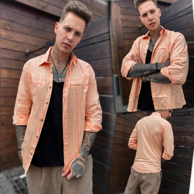 7113 Noseda рубашка мужская пудровая (S-XXL, 5 ед.) Noseda: артикул 1109225