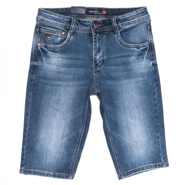 3902-В Crossnese шорты джинсовые мужские синие стрейчевые (29-38, 8 ед.) Crossnese: артикул 1109118