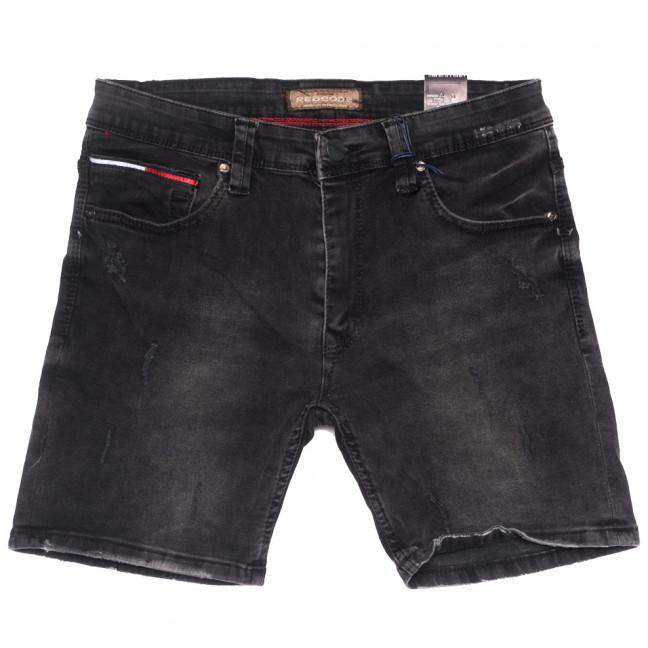 6565 Redcode шорты джинсовые мужские с царапками серые стрейчевые (29-36, 8 ед.) Redcode: артикул 1109458