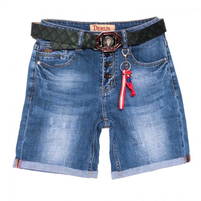 7072 Derun шорты джинсовые женские с царапками синие стрейчевые (25-30, 6 ед.) Derun: артикул 1108618