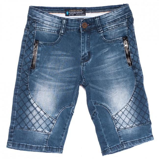 3621 Crossnese шорты джинсовые мужские молодежные синие стрейчевые (27-34, 8 ед.) Crossnese: артикул 1109126