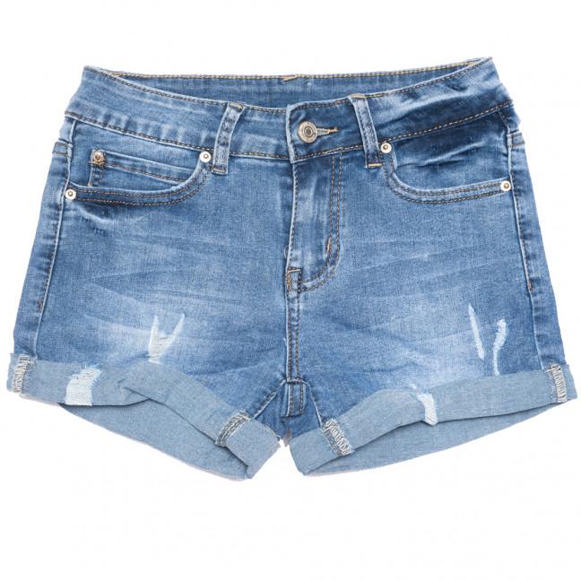 3764 New jeans шорты джинсовые женские с рванкой синие стрейчевые (25-30, 6 ед.)  New Jeans: артикул 1108990