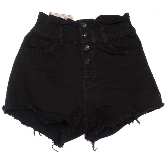 0774 Red Moon шорты джинсовые женские на пуговицах черные стрейчевые (25-30, 6 ед.) Red Moon: артикул 1109157