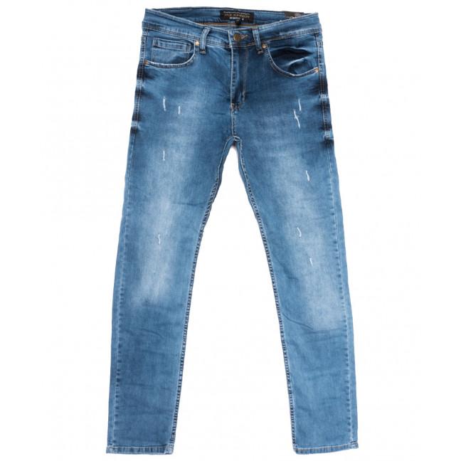 0685 Jack Johnson джинсы мужские с рванкой синие весенние стрейчевые (29-36, 8 ед.) Jack Johnson: артикул 1108455