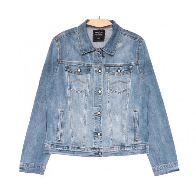 3062 Dimarkis Day куртка джинсовая женская батальная синяя весенняя стрейчевая (2XL-7XL, 6 ед.) Dimarkis Day: артикул 1109577
