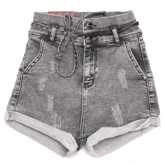 0802 Red Moon шорты джинсовые женские с царапками серые стрейчевые (25-30, 6 ед.) Red Moon: артикул 1109158