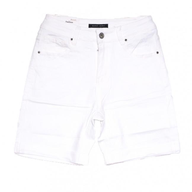 9031-2 белые Saint Wish шорты джинсовые женские полубатальные стрейчевые (28-33, 6 ед.) Saint Wish: артикул 1108213